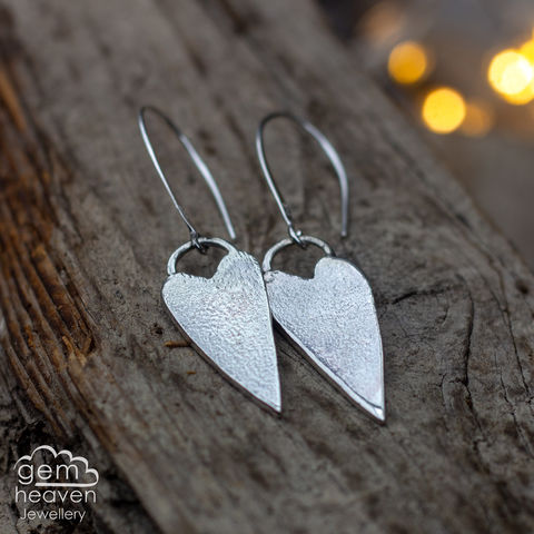 My,Rustic,Heart,earrings,heart, heart earrings, statement earrings, sterling silver,  gemstone, boho style, uk made, silver and gemstone, cornish jewellery, cornish silver jewellery,