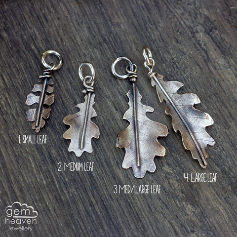 Storyteller,Leaves, storyteller, charms, uk made, gemheaven, bohemian jewellery, sterling silver, made by hand, handcrafted, handmade jewellery,