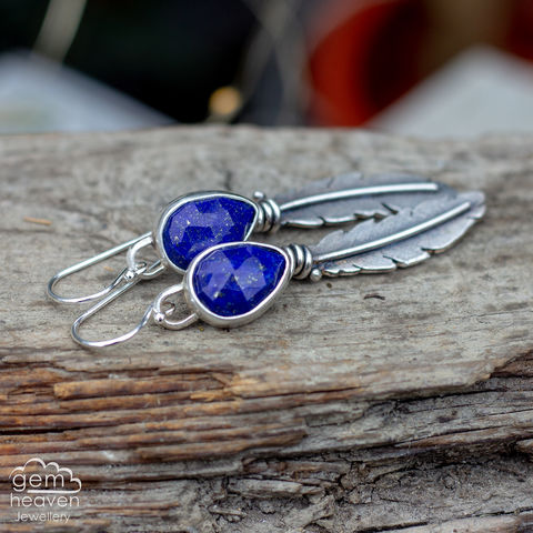 Morrigan,Series,Earrings,Feather earrings, gemstone earrings , Lapis lazuli earrings, sterling silver,feathers, silver dangle earrings, hammered hoops, Labradorite earrings, cornish jewellery, cornish jeweller, uk made, boho style, bohemian chic