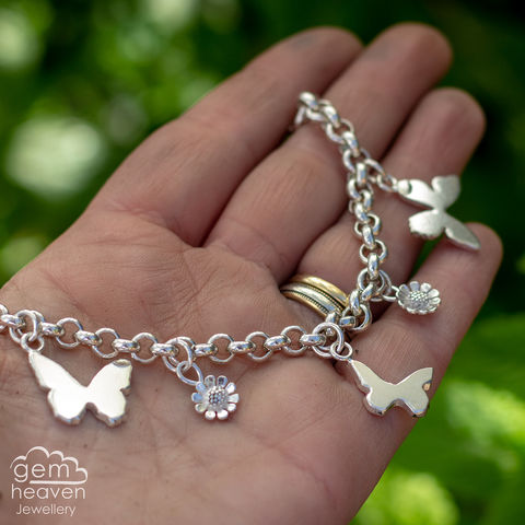 Echoes,-,Butterfly,garden,charm necklace, Moonstone, butterfly charm, butterflies, sterling silver, uk made, uk silversmith, boho style, handcrafted, design, art, jewellery, cornish jewellery, bohemian jewellery