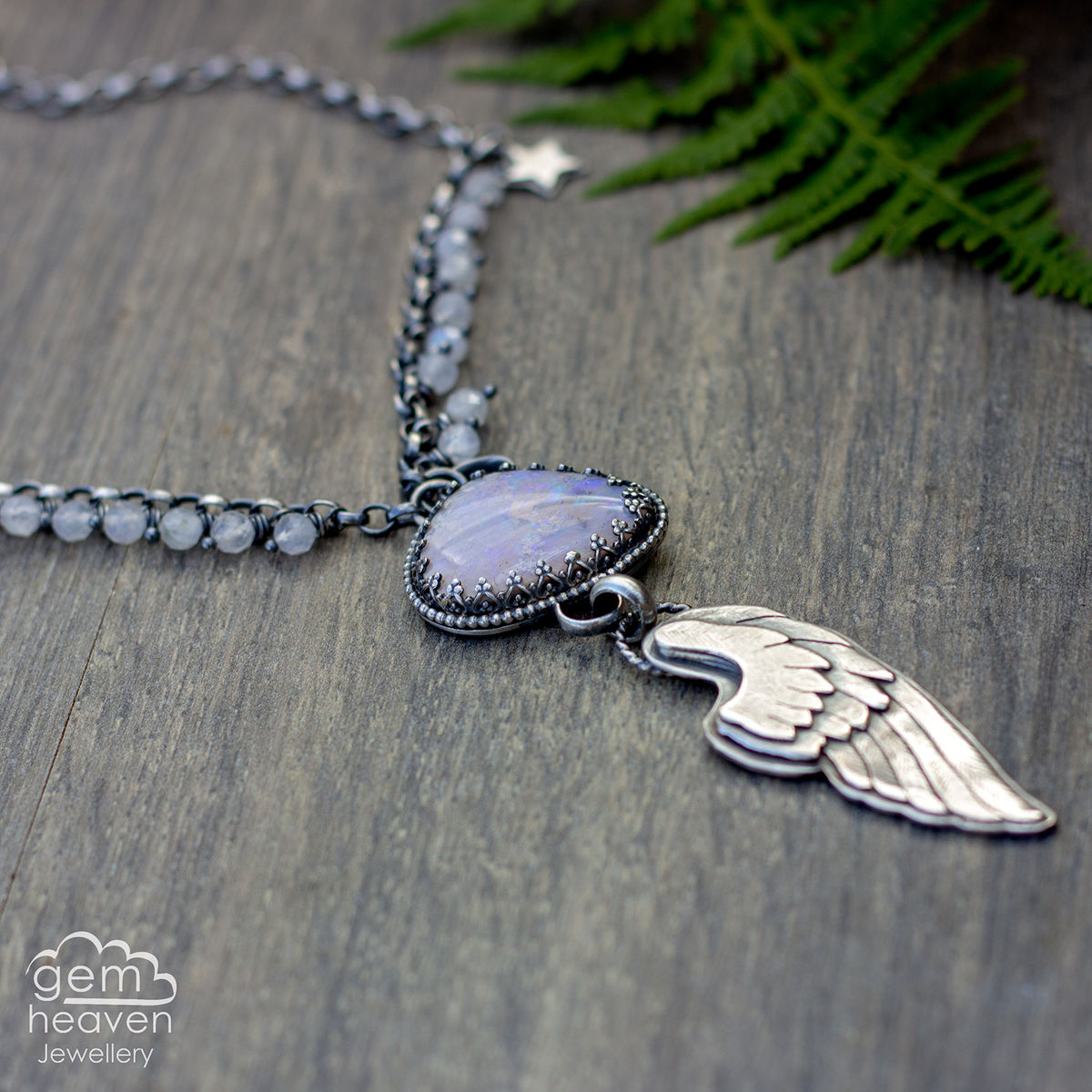 with Brave Wings ~ statement necklace - product image