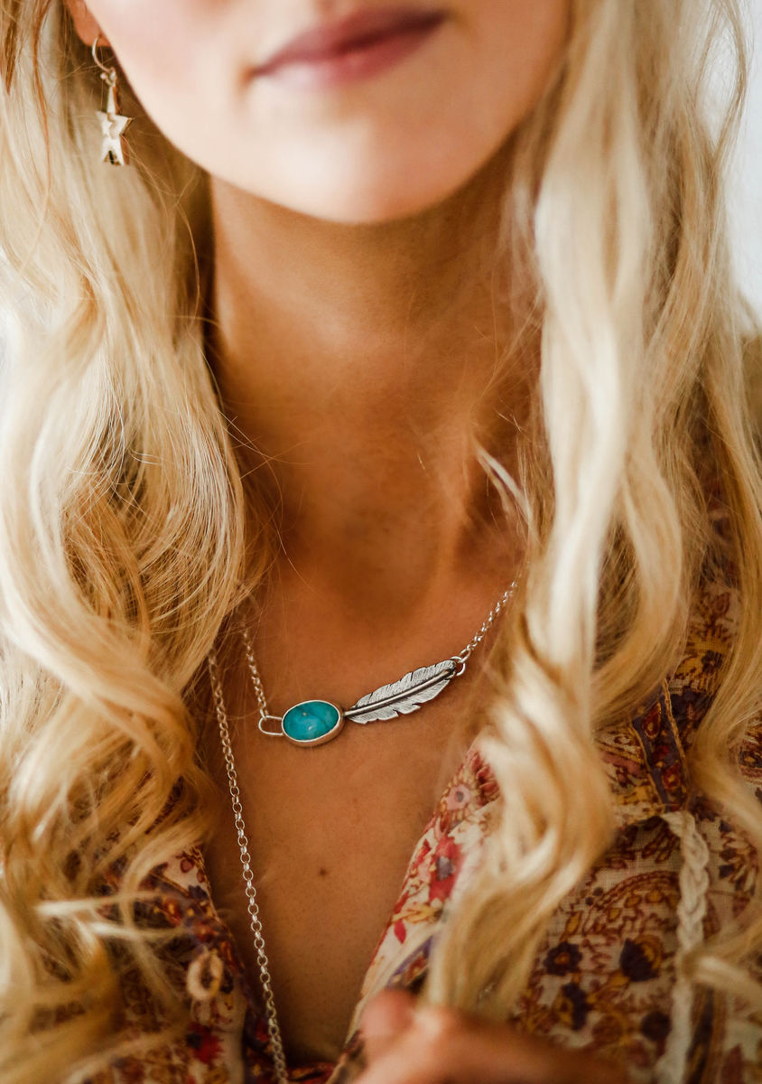 Morrigan Series Necklace with Turquoise - product image