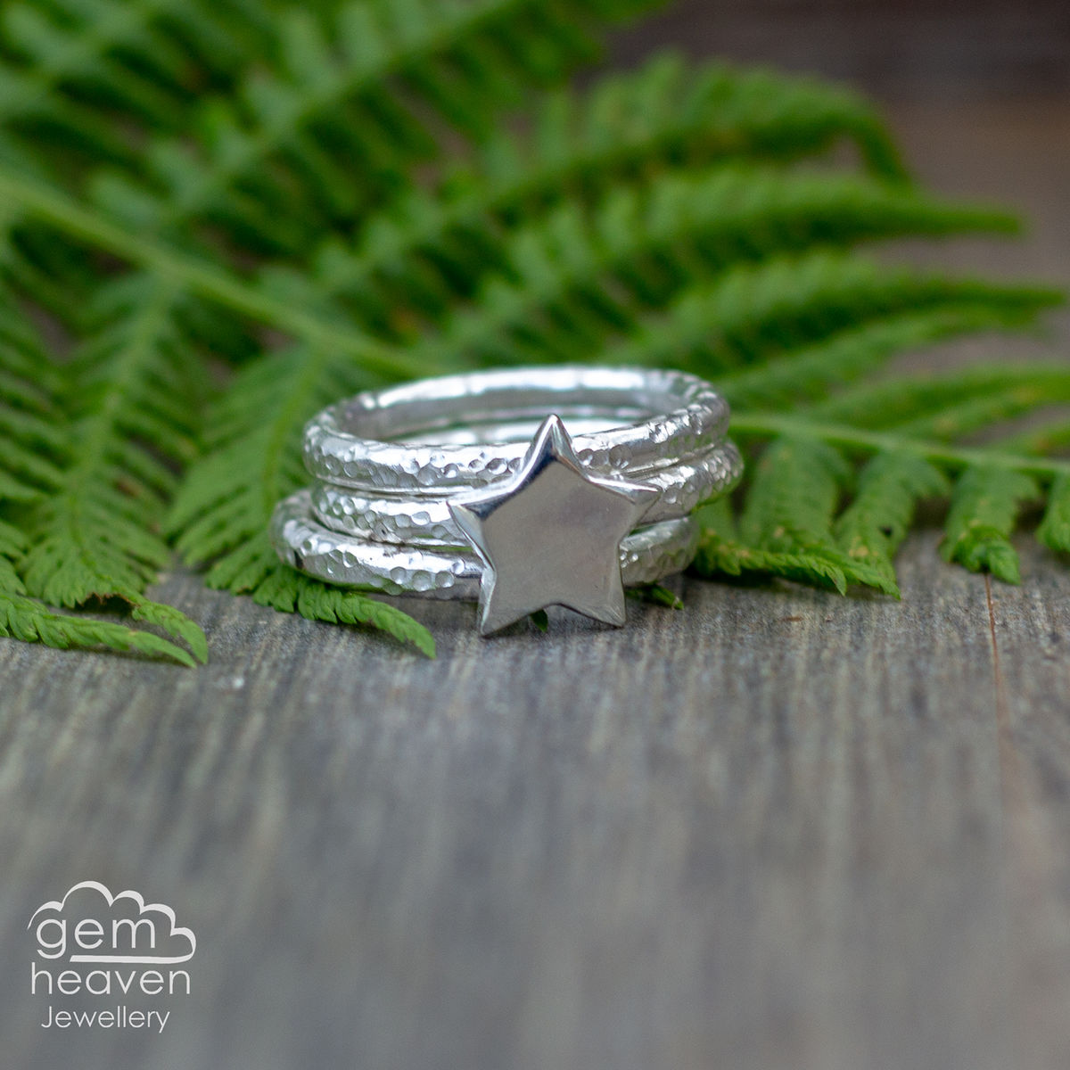 Alchemy Stacking Silver Star Set - product images  of
