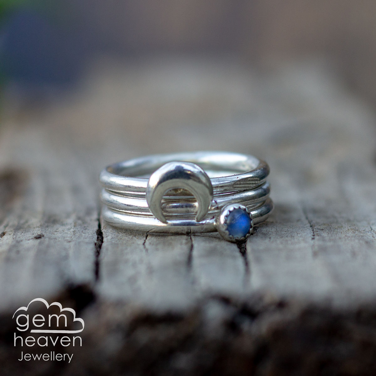 From the Moon Stacking  ring set  - product images  of