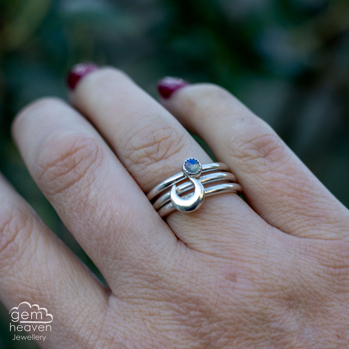 From the Moon Stacking  ring set  - product image