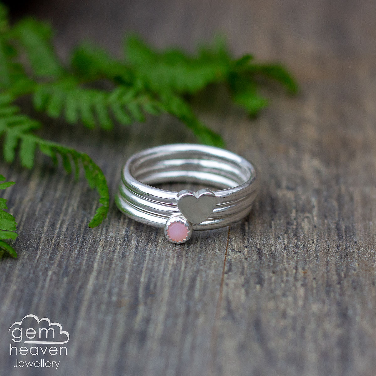From the Heart Stacking  ring set  - product images  of