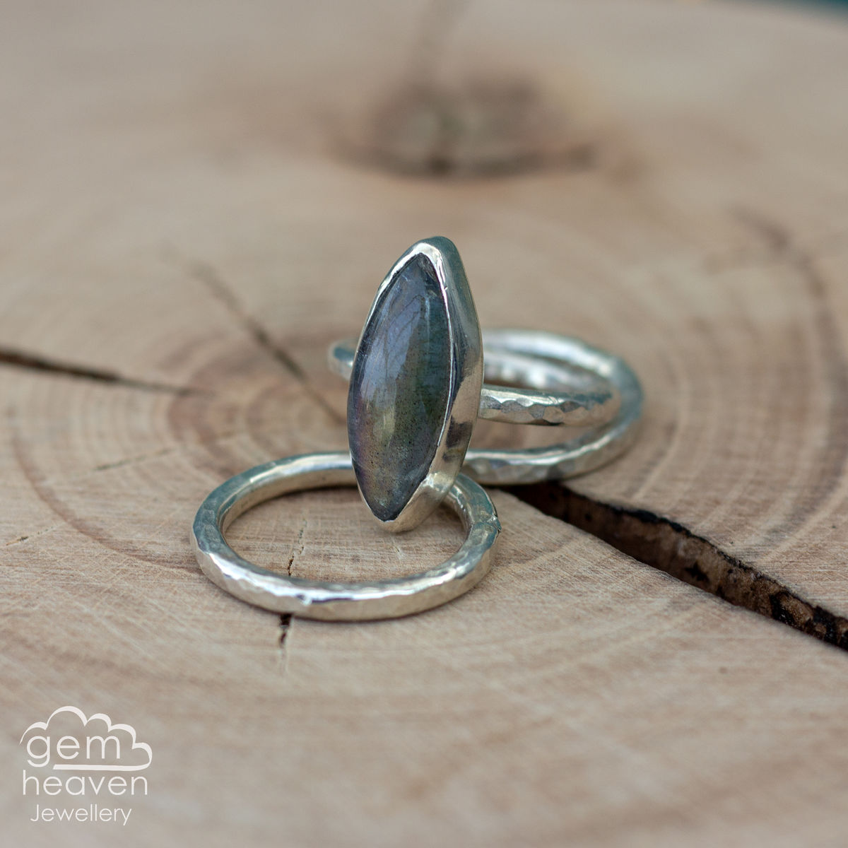 Alchemy Stacking set with Labradorite - product images  of