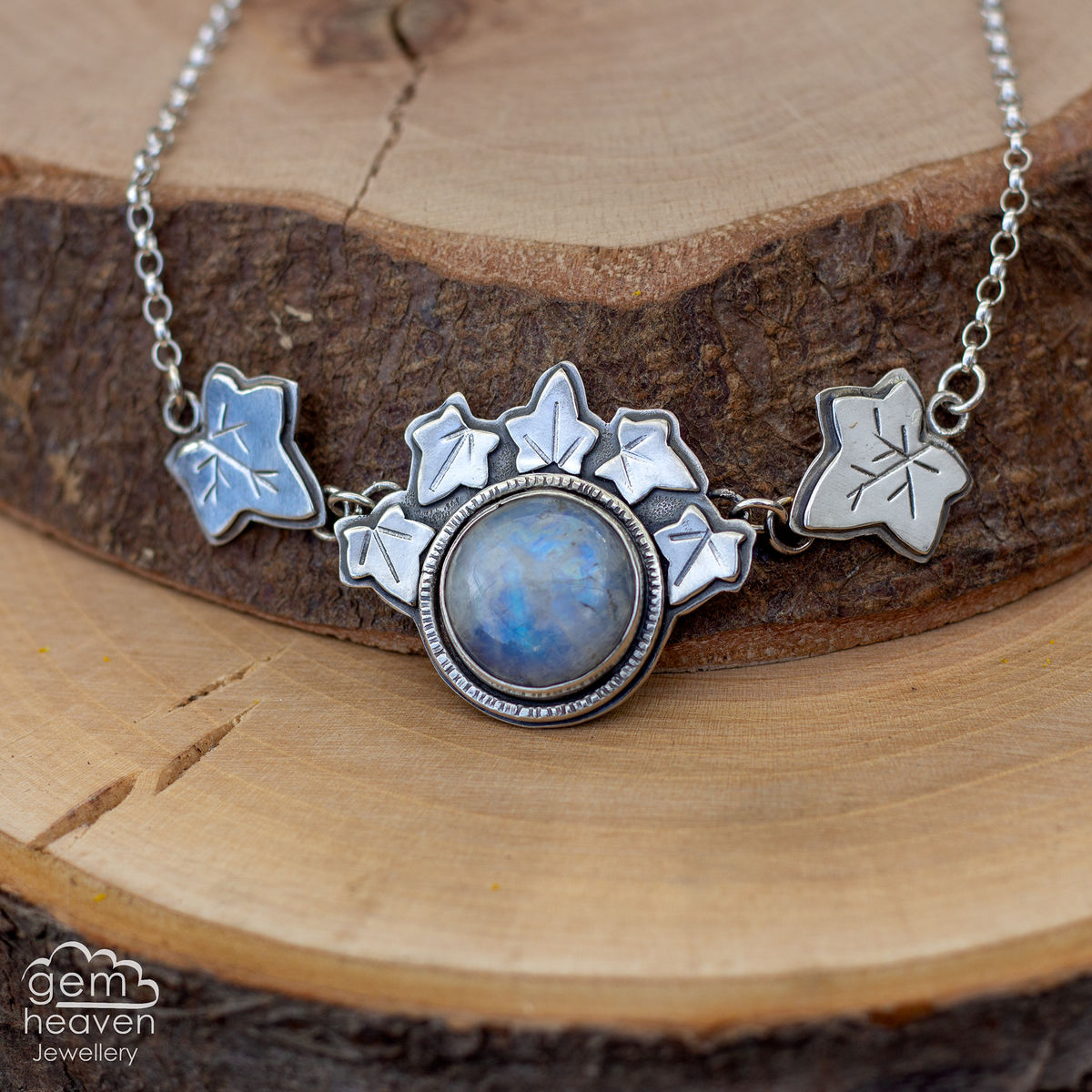 Ariadne ~ Moonstone  Statement Necklace - product images  of