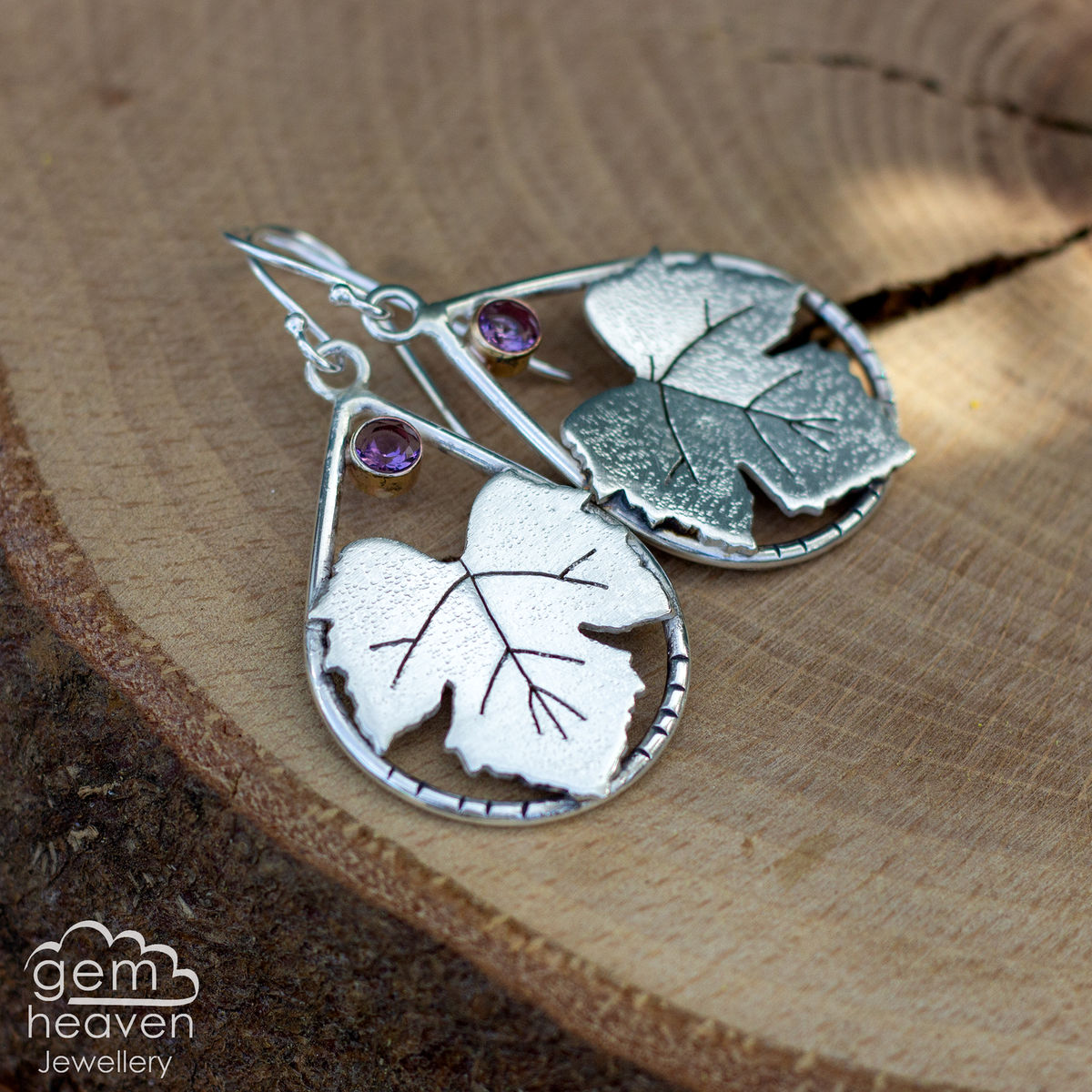 Clarity Earrings with Vine leaves - product images  of