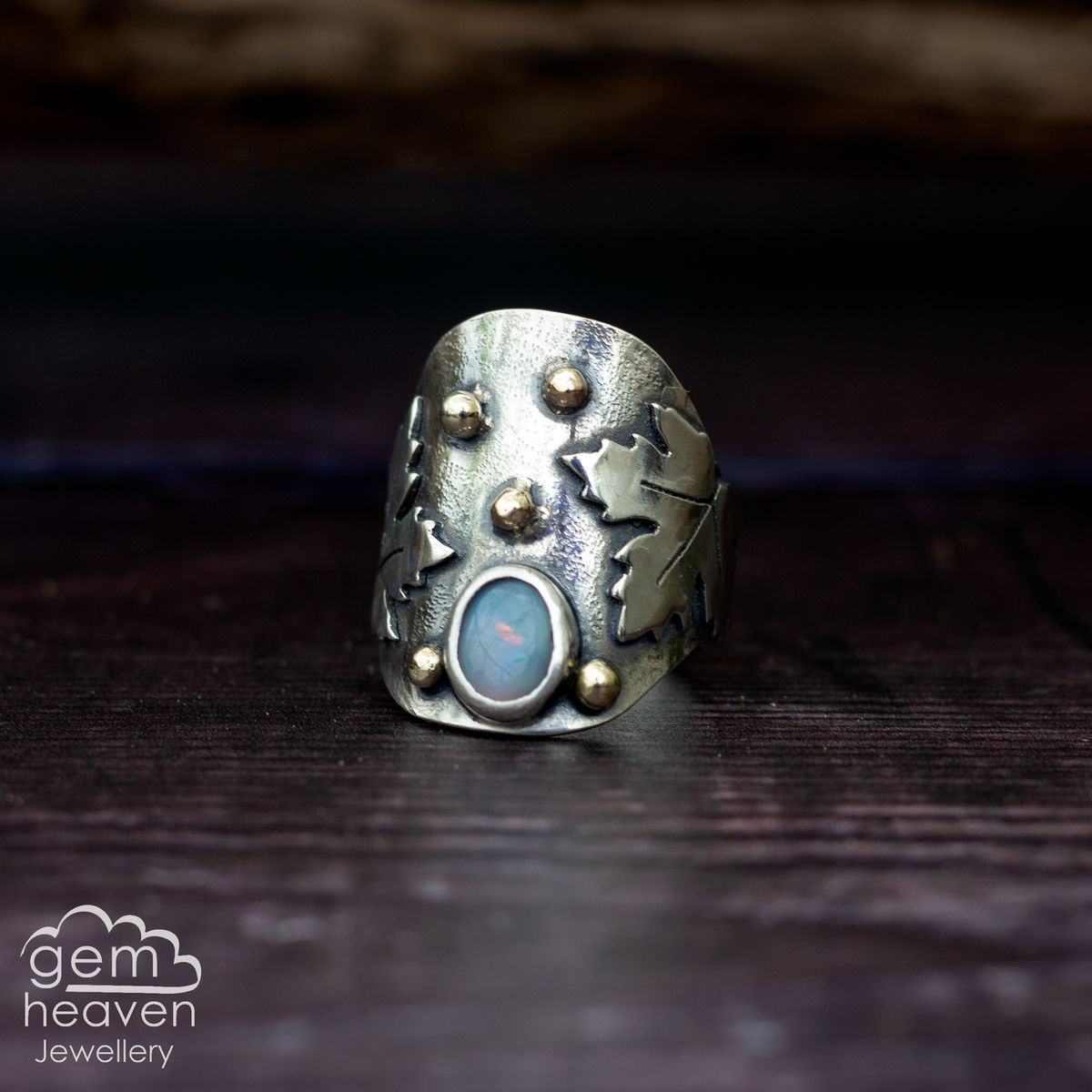 Lady of the Sycamore  - statement Saddle  ring - product images  of