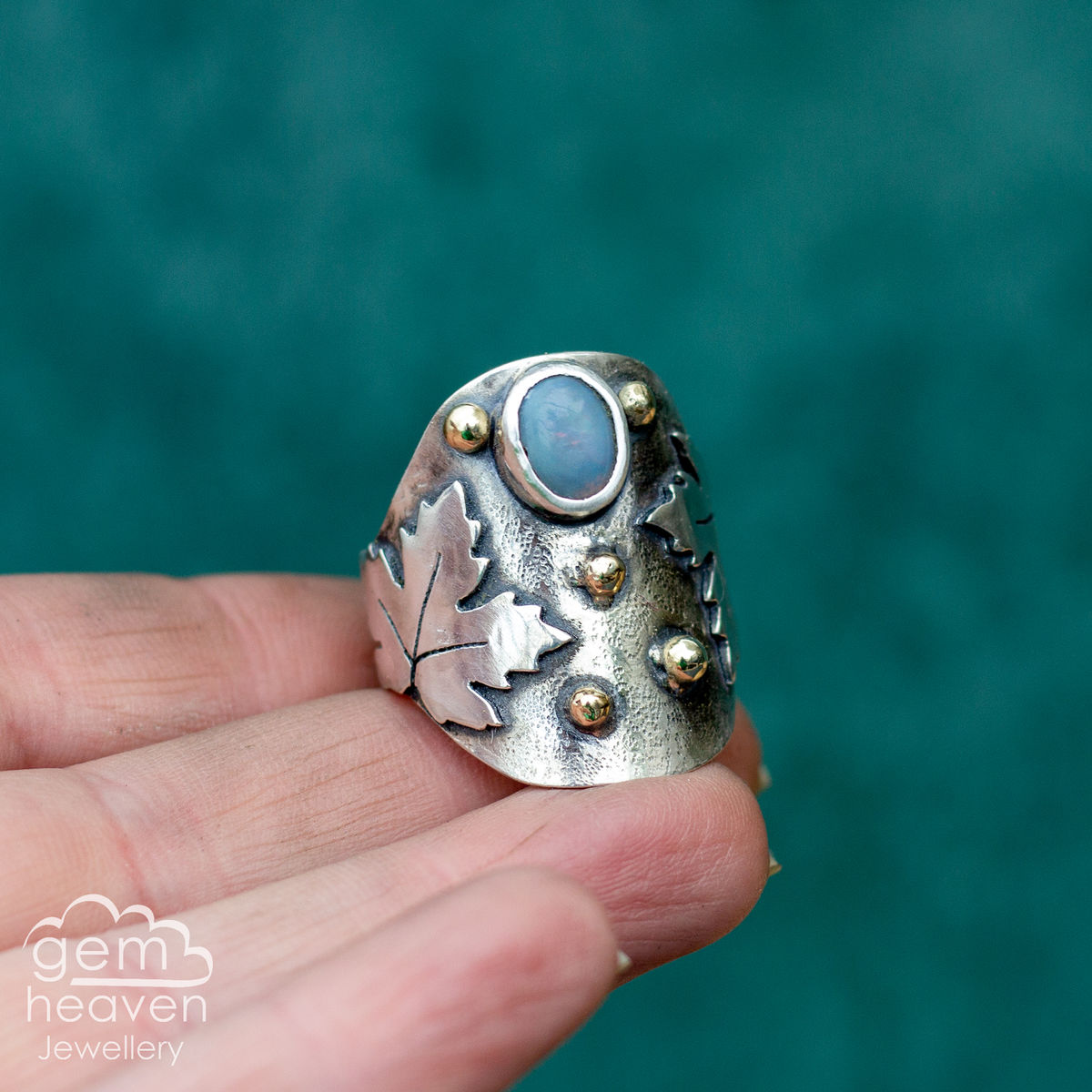 Lady of the Sycamore  - statement Saddle  ring - product image