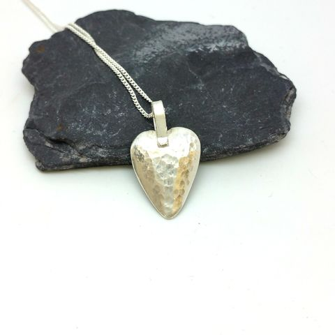 Sterling,Silver,Heart,Pendant,sterling silver heart necklace, sterling silver heart pendant, handmade silver heart, heart jewellery, Valentines day gift, Valentine gift idea, gift for women, womens silver jewellery, love heart necklace