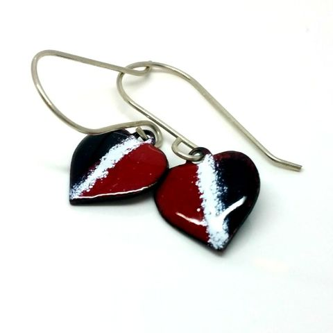 Red,White,and,Blue,Enamel,Heart,Earrings,red white and blue enamel earrings, celebration jewellery,  enamel dangly earrings, heart earrings, heart jewellery,  english flag, french flag, united states, american flag, nautical earrings
