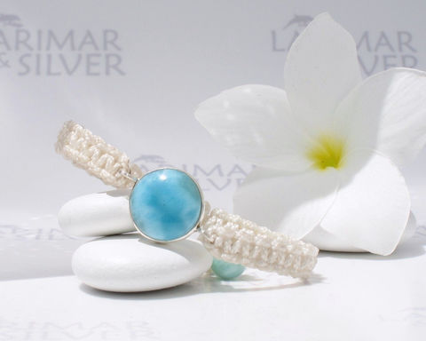 Larimar,bracelet,in,macrame,by,Larimarandsilver,,Caribbean,Aphrodite,-,blue,round,,beachy,,adjustable,handcrafted,Jewelry,Bracelet,Larimar_bracelet,sea_blue_bracelet,larimar_macrame,blue_round,Caribbean_blue,adjustable_bracelet,beach_bracelet,macramé_bracelet,dolphin_stone,volcanic_blue,Malibu_blue,larimar_jewelry,925 sterling silver,aka Pectolite,a