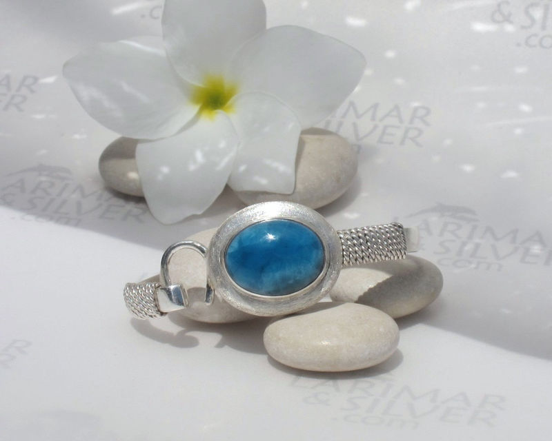 AAA Larimar Set, The Bride of Nemo - mesmerizing abyss blue Larimar  - product images  of