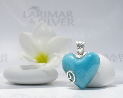 SOLD,OUT,-,Larimarandsilver,pendant,,Energy,of,Love,Caribbean,turquoise,Larimar,heart,,AAA,,sea,blue,handmade,pendant,Weddings,Jewelry,Larimar_pendant,heart_pendant,larimar_heart,turquoise_heart,Caribbean_blue,blue_heart,cerulean_heart,AAA_larimar,love_pendant,ocean_blue_heart,love_stone,bride_pendant,silver_spiral,925 sterling silver,aka blue pectolite,aka Atlan