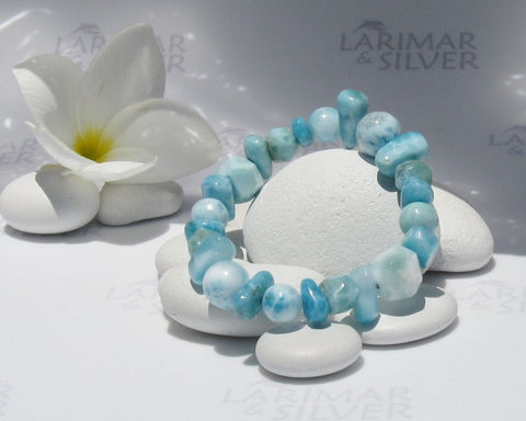 "SOLD,OUT,-,Larimar,stretch,bracelet,size,6.5"",by,Larimarandsilver,,The,Casual,Mermaid,9,pastel,blue,mixed,beads,,healing,,aqua,,handcrafted,Jewelry,Bracelet,Larimar_bracelet,Larimar_beads,larimar_jewel,larimar_look,stretch_bracelet,aquamarine_bracelet,bridal_bracelet,beads_bracelet,beach_bracelet,Larimar_stretch,dolphin_stone,healing_bracelet,5_chakra_bracelet,aka Pectolite,aka Atlant"