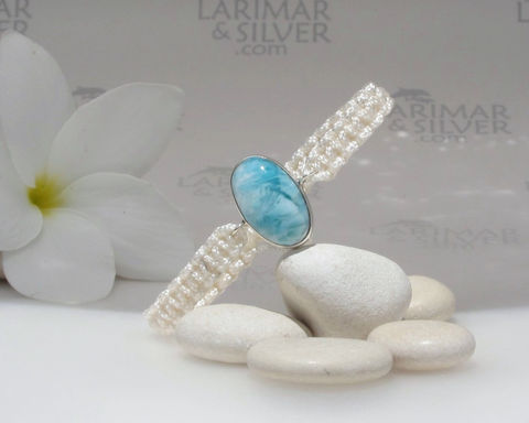 SOLD,OUT,-,Larimar,bracelet,in,macrame,by,Larimarandsilver,,Bath,of,Aphrodite,foamy,aqua,oval,,rushing,water,,handmade,adjustable,Jewelry,Bracelet,Larimar_bracelet,aquamarine_bracelet,larimar_macrame,aqua_bracelet,aquamarine_oval,adjustable_bracelet,beach_bracelet,macramé_bracelet,sea_blue,sea_shore,surf_bracelet,larimar_jewelry,925 sterling silver,aka Pectolite,aka At