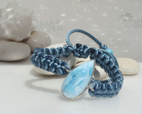 SOLD,OUT,-,Larimar,bracelet,macrame,by,Larimarandsilver,,Cool,Siren,topaz,blue,Larimar,,frosted,,pastel,blue,,sky,handmade,adjustable,Jewelry,Bracelet,Larimarandsilver,larimar_bracelet,bracelet_macramé,larimar_stone,ice_blue,frozen_blue,larimar_jewelry,beachy_bracelet,glacial_blue,adjustable_bracelet,larimar_macrame,larimar_pear,atlantis_stone,925 sterling silver,aka Pectolite,a
