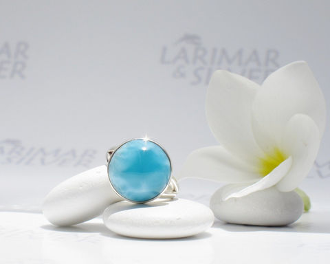 SOLD,OUT,-,Larimarandsilver,ring,size,6.5,,Pool,of,the,Gods,deep,blue,Larimar,round,ring,,denim,blue,,peacock,handcrafted,Jewelry,Ring,larimar_round_ring,sea_blue_ring,ocean_blue_larimar,larimar_jewelry,Atlantis_stone,London_blue,volcanic_blue,AAA_larimar,peacock_blue,electric_blue,deep_blue_stone,blue_lagoon,blue_round,925 sterling silver,aka Pectolite,aka Atlantis