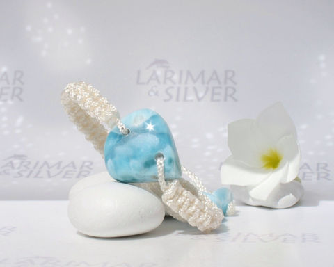 "Larimar,bracelet,,Energy,8,-,marbled,blue,stone,,turtleback,,healing,macrame,adjustable,6.5,to,8.5"",Jewelry,Bracelet,Larimar_stone,Larimar_macramé,healing_Larimar,Reiki_bracelet,Reiki_Larimar,healing_bracelet,macramé_bracelet,Atlantis_stone,sea_blue_bracelet,marbled_larimar,fifth_chakra,throat_chakra,aka Pectolite,aka Atlantis stone,aka"