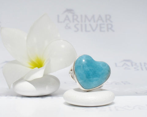 SOLD,OUT,-,Larimar,ring,size,6.5,,My,Heart,to,Swim,In,azure,heart,,blue,Caribbean,blue,,deep,turquoise,,handmade,larimar heart ring, larimar stone heart, azure heart, turquoise blue heart, larimar jewelry, love ring, blue stone heart, navy blue heart, sapphire blue heart ring, Caribbean blue, summer love, mermaid heart, siren heart, 925 sterling silver, blue pectoli