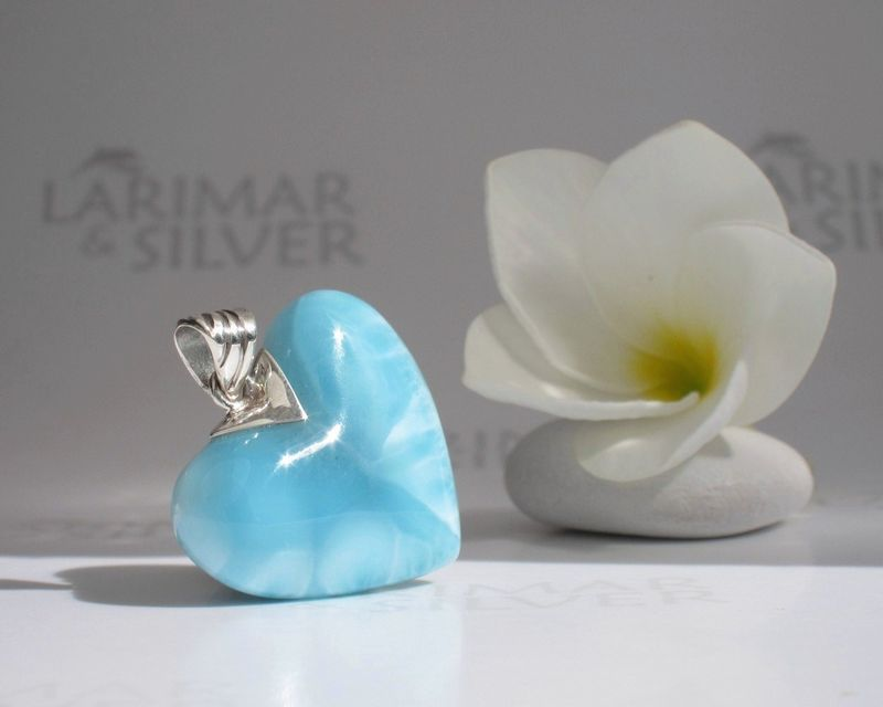 SOLD OUT - Larimar heart pendant - Heart of an Angel - product images  of