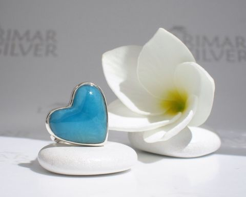 SOLD,OUT,-,AAA,Larimar,heart,ring,size,6,Peacock,Blue,Romance,Larimar stone, heart stone, larimar heart, blue heart, peacock blue heart, peacock heart, persian blue, AAA Larimar, volcanic blue, love stone, blue love, electric blue, deep blue, abyss blue, sapphire blue, heart ring, Larimar ring, ring size 6, Caribbea