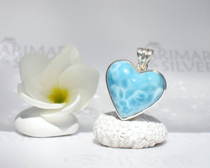 SOLD OUT - Larimar heart pendant - Love of Water - product images  of