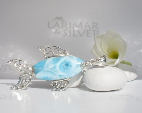 SOLD,OUT,-,Beautiful,carp,shaped,Larimar,pendant,Blue,Koi,Larimar stone, fish stone, larimar fish, blue fish, sky blue fish, topaz blue fish, fish pendant, silver fish, aqua blue fish, blue pectolite, aquamarine fish, turtleback, azure fish, angler fish, blue koi, larimar koi, koi pendant, water blue fish, fish