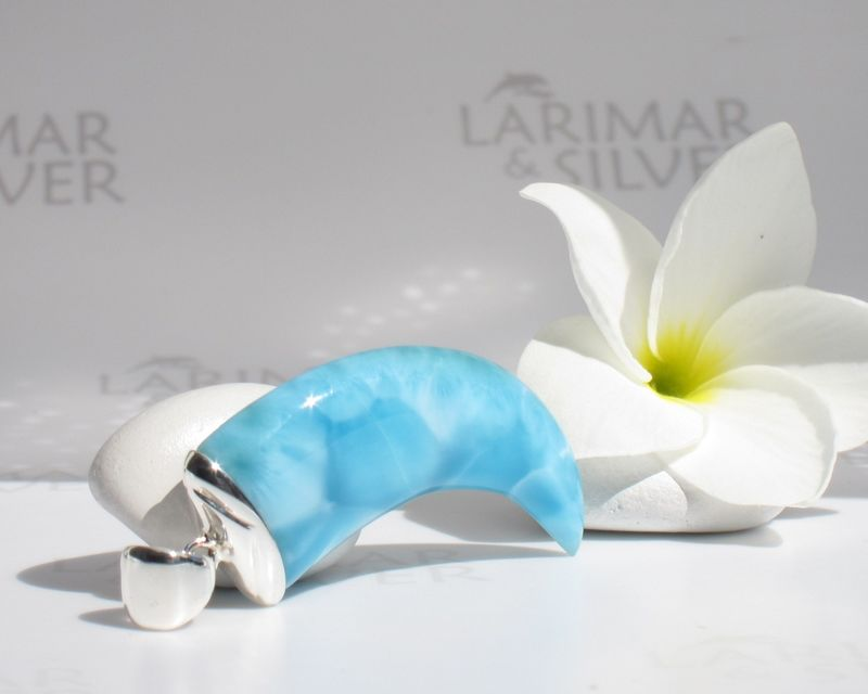 SOLD OUT - Men Larimar claw pendant - Atlantis Eagle - product images  of