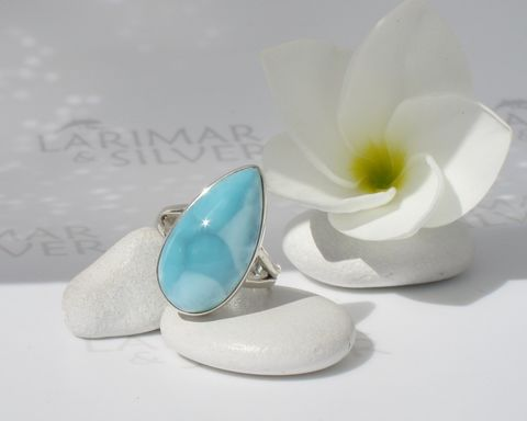 SOLD,OUT,-,Larimar,ring,size,7.75,,Turquoise,Gipsy,turtleback,turquoise,pear,,turquoise,,sky,blue,,topaz,handmade,Larimarandsilver, larimar ring, larimar pear ring, azure blue ring, turquoise larimar, turquoise blue ring, gipsy ring, turquoise ring, turtleback, blue pear ring, dolphin stone ring, atlantis stone ring, sky blue stone, stefilia stone, blue Pectolite, At