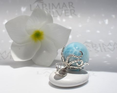 AAA,Larimar,octopus,pendant,-,Guardian,of,Purity,Larimar pendant, Larimar pearl pendant, larimar ball, larimar sphere, silver octopus pendant, octopus Larimar, silver tentacles choker, octopus necklace, octopus world, atlantis stone pendant, blue pectolite pendant, Larimar jewelry, turtleback larimar
