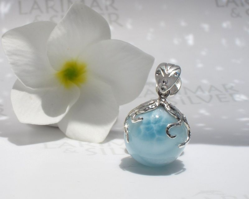 SOLD OUT - AAA Larimar octopus pendant - Guardian of Purity - product images  of