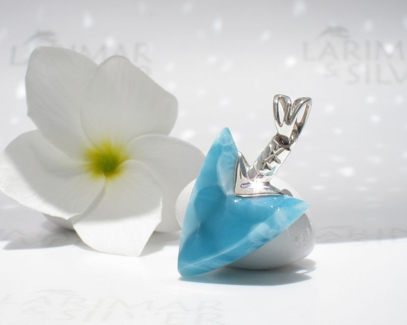 SOLD OUT - Reversible Larimar arrowhead pendant - Warrior of Atlantis - product images  of
