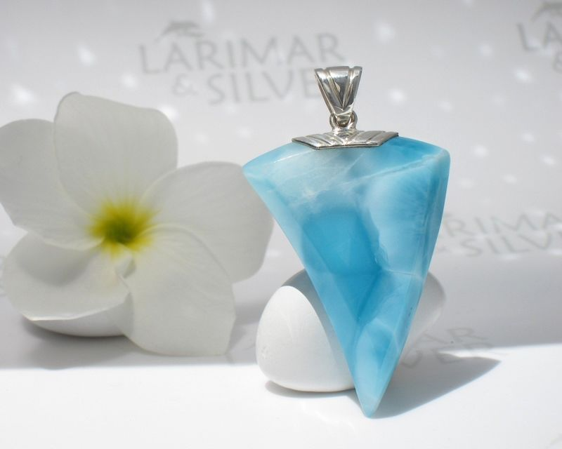 SOLD OUT - AAA Larimar claw pendant by Larimarandsilver - Dragon Warrior - product images  of