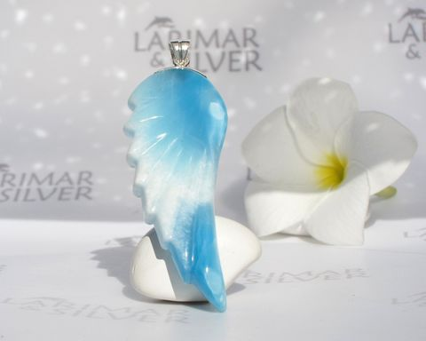 SOLD,OUT,-,AAA,Larimar,wing,pendant,Angel,of,Gaia,Authentic,Dominican,jewelry,Larimarandsilver, Larimar pendant, Larimar jewelry, Larimar wing pendant, blue wing pendant, blue feathers pendant, silver wing pendant, guardian angel pendant, AAA Larimar pendant, reversible Larimar pendant, turtleback, Larimar stone pendant