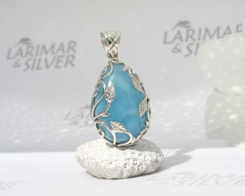 Larimar,pendant,925,silver,-,Glade,of,the,Fairies,Authentic,Dominican,jewelry,Larimar stone pendant, Larimar pendant, Larimar jewelry, Larimar pear pendant, blue drop pendant, fine larimar jewelry, sleeping beauty, AAA Larimar, Dominican Larimar pendant, turquoise drop pendant, larimarandsilver