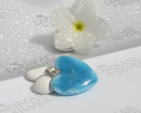 AAA,Larimar,heart,pendant,925,silver,-,Love,in,Blue,Satin,Authentic,Dominican,jewelry,Larimar stone pendant, Larimar pendant, Larimar jewelry, Larimar heart pendant, blue heart pendant, fine larimar jewelry, love satin, AAA Larimar, Dominican Larimar pendant, reversible heart pendant, larimarandsilver