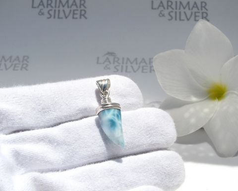 SOLD,OUT,-,Larimar,men,pendant,by,Larimarandsilver,sea,blue,claw,,turquoise,claw,pendant,,jewelry,for,men–,AZ449