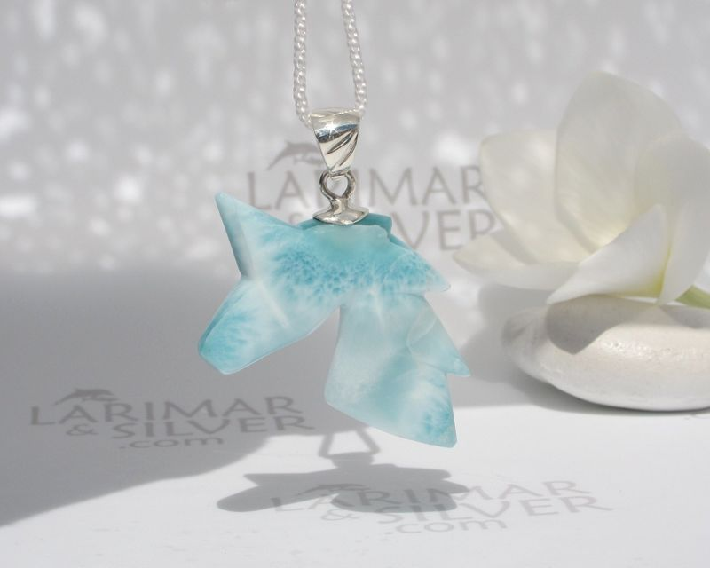 Atlantis Unicorn - Rare Larimar unicorn pendant 925 silver - fine larimar jewelry - product images  of