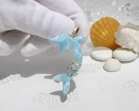 SOLD,OUT,-,Larimar,dolphin,pendant,by,Larimarandsilver,,Flipper,Spirit,AAA Larimar stone, Larimar dolphin, crystal dolphin, Larimar pendant, flipper pendant, Larimarandsilver, dolphin leap pendant, Dominican Larimar, Larimar for him, atlantis stone, stefilia stone, dolphin stone, best larimar