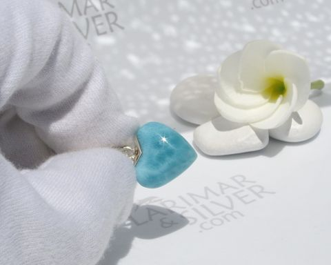 SOLD,OUT,-,Tiny,Larimar,heart,choker,I,love,Fidji,heart choker, blue heart