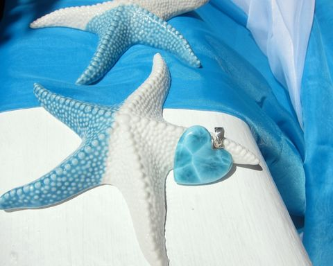 SOLD,OUT,-,Mermaid,Heart,pendant,Queen,of,the,Ocean,blue heart