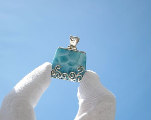 Mermaid,Party,at,the,Beach,-,turquoise,Larimar,pendant,925,silver/beach,bag/larimar,jewelry/woman,gift,Larimar stone pendant, Larimar pendant, Larimar jewelry, Larimar trapeze pendant, AAA Larimar, fine larimar jewelry, Larimarandsilver pendant, beach tote, Dominican Larimar pendant, turtleback, turquoise larimar pendant