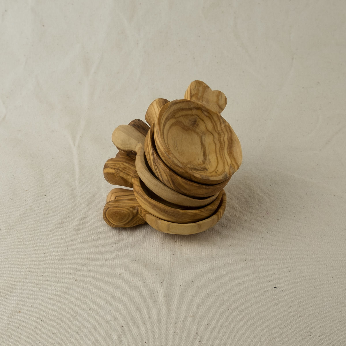 Olive wood little scoop - Handcrafted in Palestine - product images  of