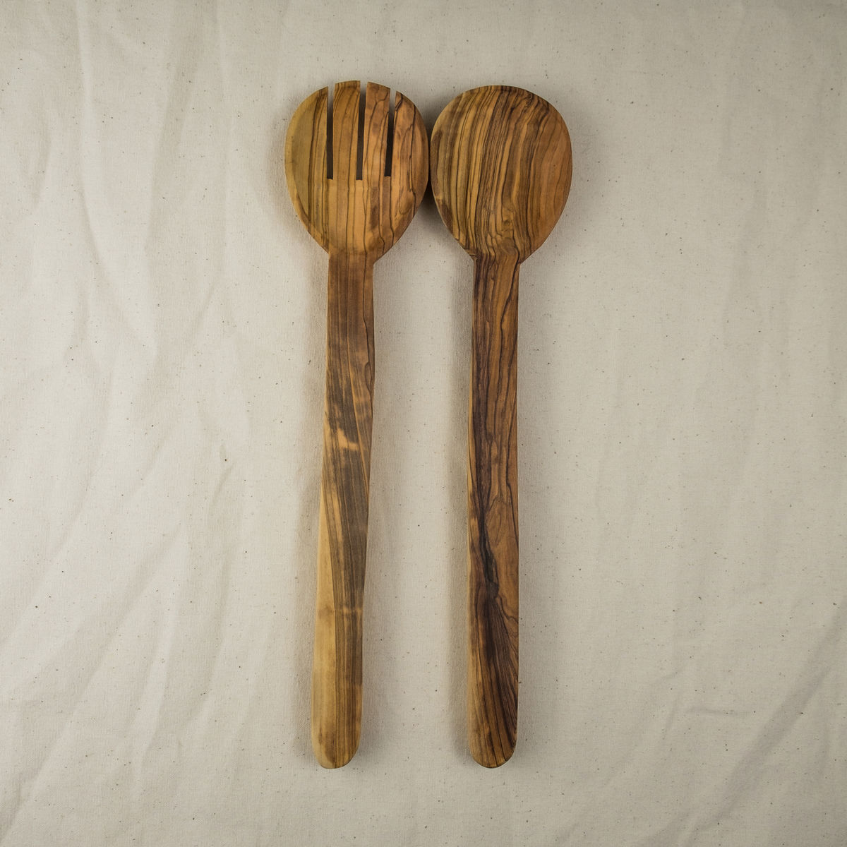 Olive wood salad serving set - Handcrafted in Palestine - product images  of