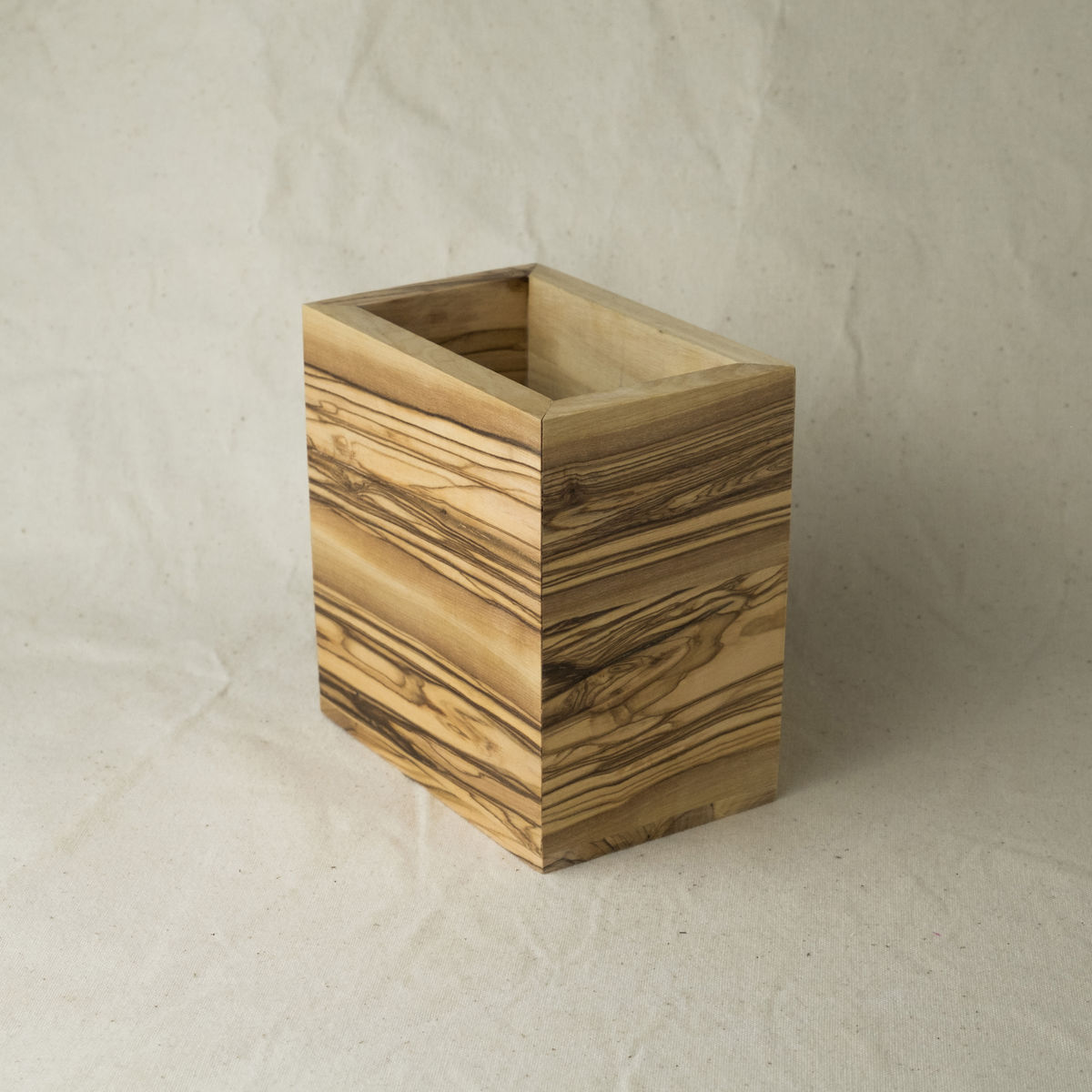 Multi purpose olive wood container - product image
