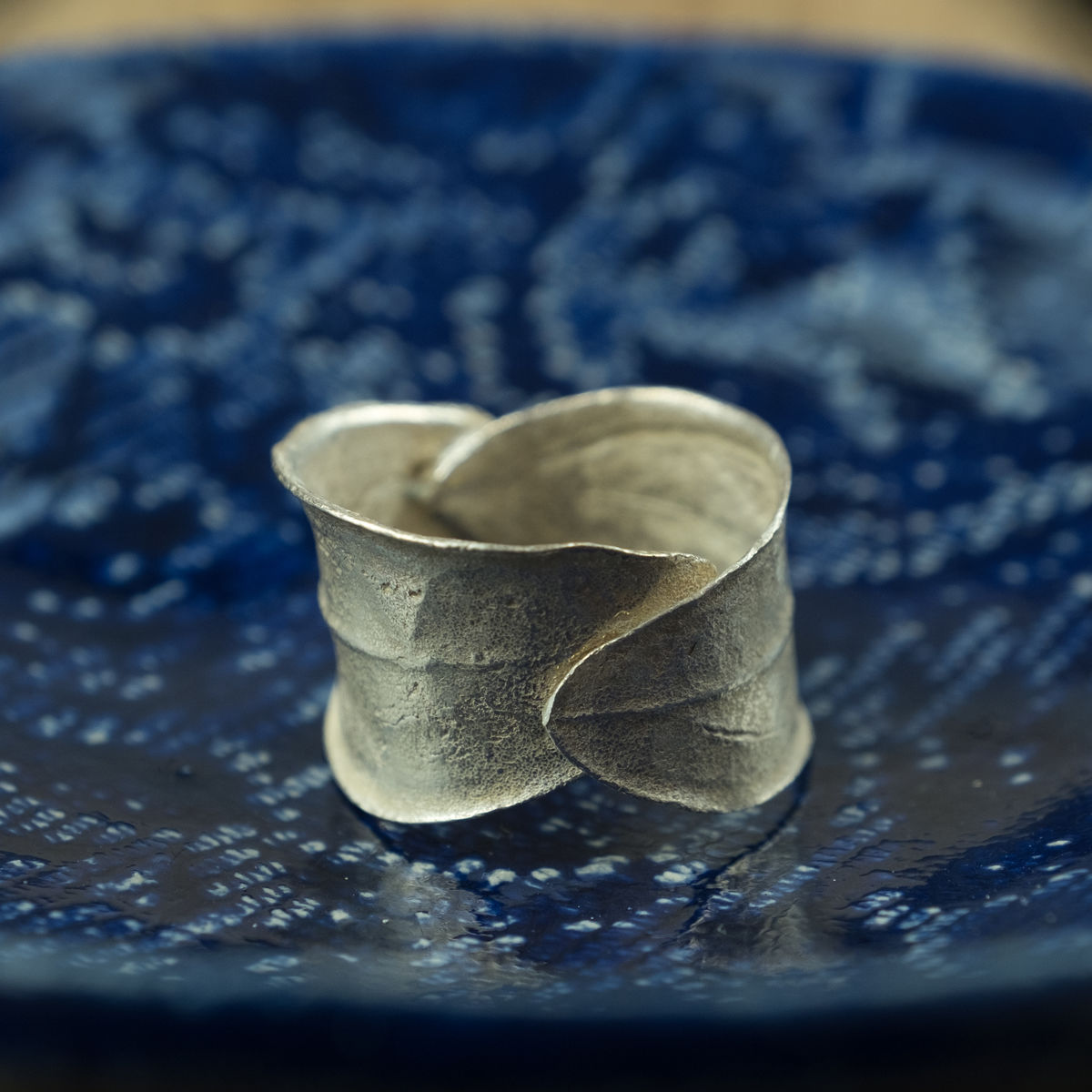 Two olive leaf silver ring - by Silver Zaytouna - Handcrafted in Palestine - Bethlehem - product images  of