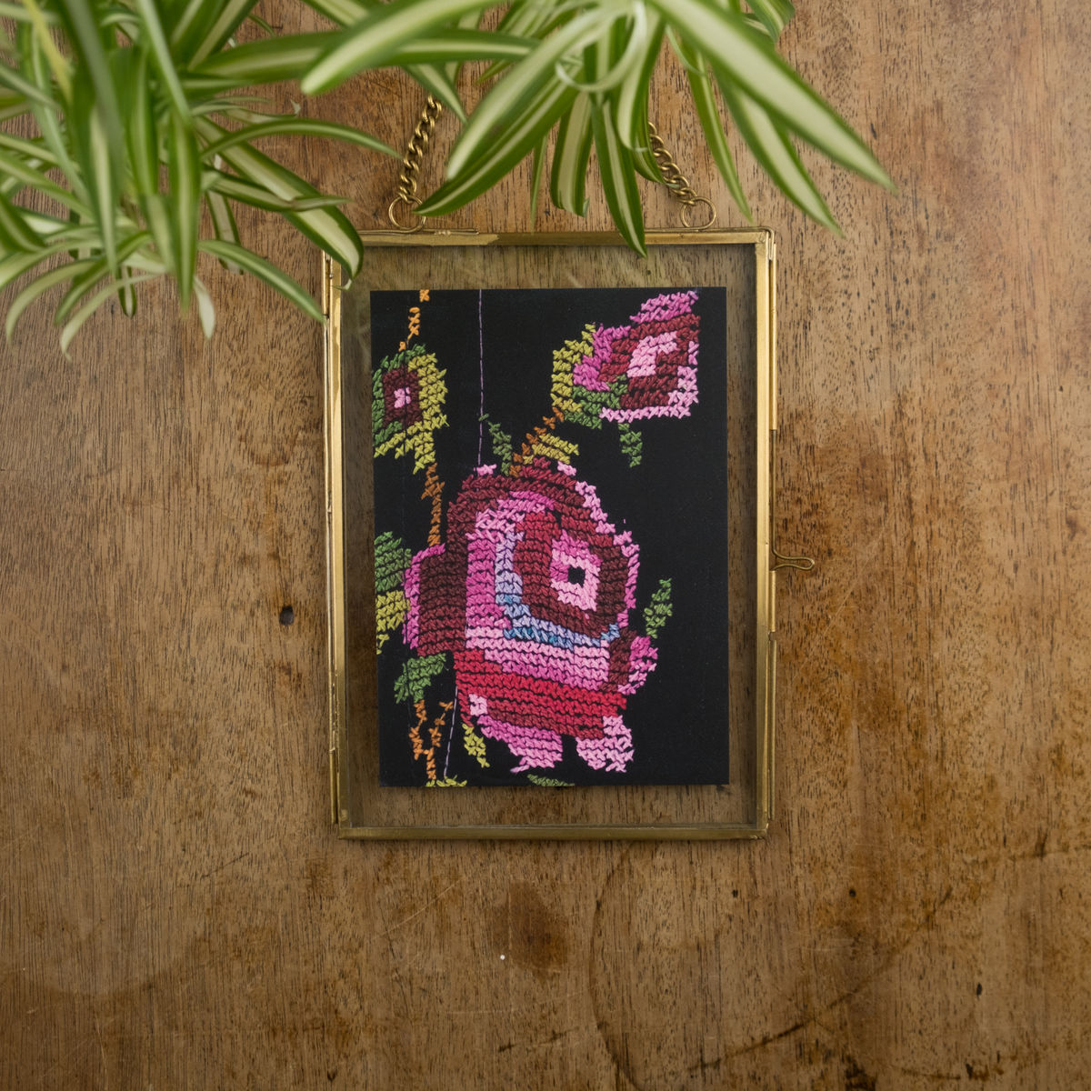 Rose detail - Palestinian embroidery postcard - product images  of
